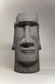 Easy Clay Sculptures, Sculpture Head, Paper Mache Sculpture, Pottery Sculpture, Stone Carving, Wood Carving, Easter Island Statues, Tiki Head, Tiki Mask