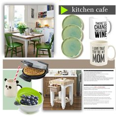 Kitchen Cafe: Breakfast for Three by princessbollywood on Polyvore featuring polyvore, interior, interiors, interior design, home, home decor, interior decorating, Primitives By Kathy, Black & Decker and Tovolo