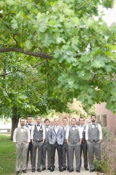 Denver Wedding by We Heart Photography Mismatched Groomsmen, Groomsmen Grey, Groom And Groomsmen Attire, Groom Wear, Groomsmen Trends, Wedding Poses, Wedding Groom, Wedding Ideas, Wedding Planning