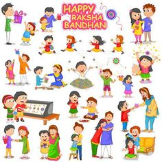 Illustration of Brother and Sister in Raksha Bandhan vector art, clipart and stock vectors.