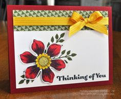 Stampin Up Blendabilities; Thinking of You Card; Beautiful Bunch; Card Creations by Beth