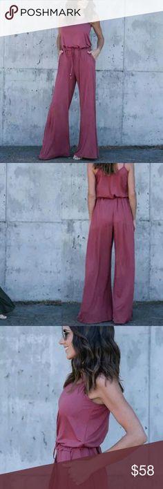 """Beautiful Summer Pink Romper JumpSuit Trousers Brand New,  Women's Beautiful Summer Pink Romper JumpSuit Trousers Condition: 100% Brand New Material:  ❣Size: Large (8-10) ❣Bust: 96cm,  37.8"""" Waist: 74cm,  29.13"""" Length: 143cm,  56.3"""" ❣Hip: 114cm,  44.88"""" ❣Quantity: 1 pcs Set Jumpsuit Romper Pants Jumpsuits & Rompers"""