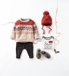 sweater and knit beanie clothing set