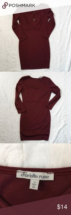 NWT Charlotte Russe Strappy Bodycon Dress - size small - NWT - long sleeve Charlotte Russe Dresses Long Sleeve