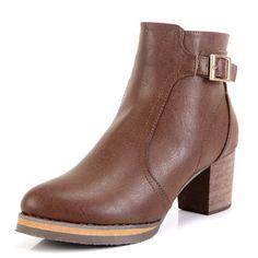 Faux Leather Cowboy Short Boots