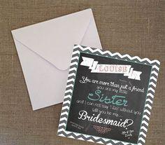 Will you be my bridesmaid  Sister  Digital by PrettyLaneWeddings, £4.00