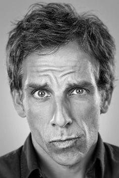 Ben Stiller doing his Zoolander face! Celebrity Photography, Celebrity Portraits, Celebrity Photos, Celebrity Faces, The Comedian, Photo Portrait, Portrait Photography, People Photography, White Photography