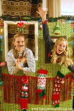 Ugly Christmas Sweater Party Photo Booth @heyvictoria Are these pins already annoying?