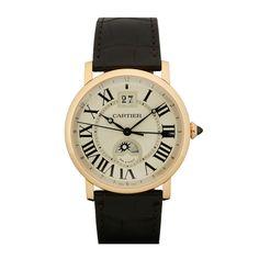 1stdibs | Cartier Rose Gold Privee Rotonde XL Dual Time Zone Wristwatch