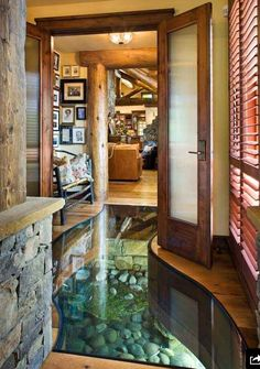 A creek running through the hallway. I WANT THIS!