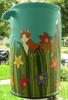 ODD imagination: Rain Barrel Art