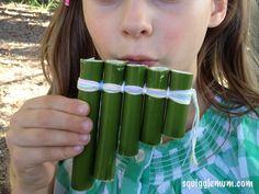 DIY Bamboo Panflutes from SquiggleMum
