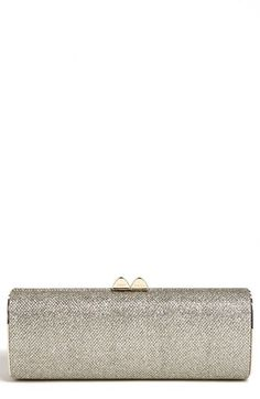Jimmy Choo 'Charm' Lamé Glitter Clutch available at #Nordstrom