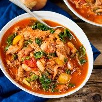 Pulled Pork and Bean Soup - Nicky's Kitchen Sanctuary
