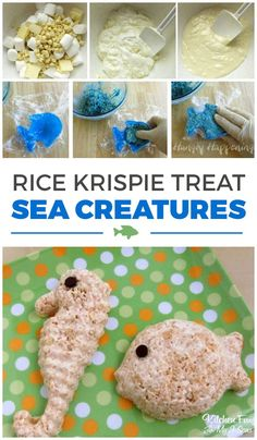 Rice Krispie Treat Sea Creatures *winner* these are really fun!