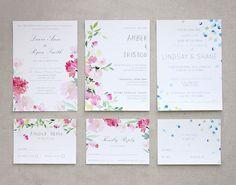 Convites de Casamento em Aquarela