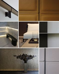 Masculine Detailing : Leather cladding : Linear Structured Accessories : SCDA Grange Road Residence I Commercial Interior Design, Commercial Interiors, Door Design, Wall Design, Villa Luxury, Scda Architects, Metal Wall Panel, Leather Wall Panels, Joinery Details