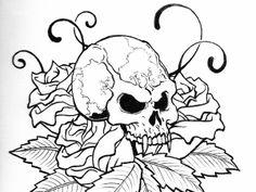 skull tattoo 34 Magical Tattoo Drawings