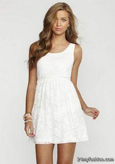 67c99a11a793 Summer lace dresses review. White Tank DressSimple White DressLittle ...