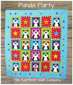 Panda Party Quilt Pattern - via @Craftsy