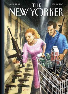 Одержимость New Yorker Обложка высмеивает Америки With Guns После массовых расстрелов - NBC News