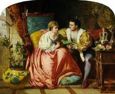 "David Wilkie Wynfield ""Henry VIII and Anne Boleyn"" 1865"