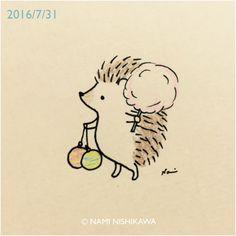 なみはりねずみ日記 — 930 夏祭り summer festival
