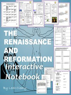 This is a complete interactive notebook for Unit 5: The Renaissance and the Reformation. It includes 54 pages of handouts and lesson plans, and 111 slides of PowerPoint presentations. It is a complete organizational structure for the fifth unit of a world history class.