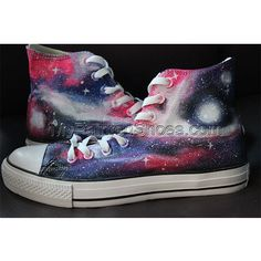 Galaxy Converse Painted Shoes Galaxy Converse, Galaxy Shoes, Grunge Style, Soft Grunge, Style Converse, Custom Converse Shoes, Painted Canvas Shoes, Hand Painted Shoes, Doc Martins