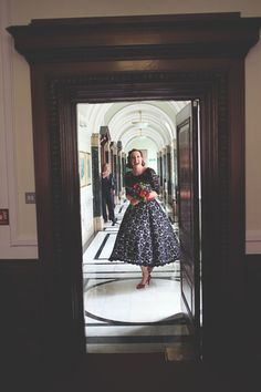 A Black Lace Wedding Dress for a Relaxed London Wedding...