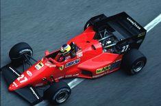 Alboreto e sua Ferrari no GP de Mônaco em 1984