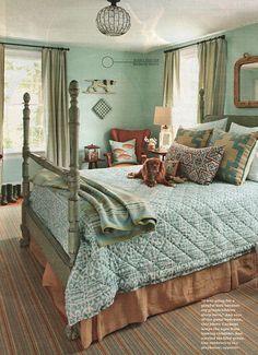 turquoise bedroom-Ann Rae BHG mag 2-13