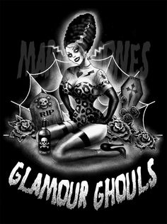 Glamour Ghouls - By Marcus Jones Zombie Pin Up, Zombie Art, Rockabilly Art, Demon Art, Frankenstein's Monster, Gothabilly, Famous Monsters, Bride Of Frankenstein, Fright Night