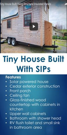 Tiny House Built With SIPs   Tiny Quality Homes