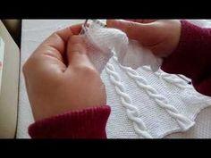 Burgulu haroşa hırka 5.bölüm sol önde kesim ve burgu kuruluşu - YouTube Knitted Gloves, Fingerless Gloves, Crochet Videos, Knitting Stitches, Arm Warmers, Crochet Baby, Diy And Crafts, Embroidery, Learning
