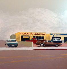 """Yamaha of San Luis Obispo 30""""x30"""" Oil on Canvas 2015"""