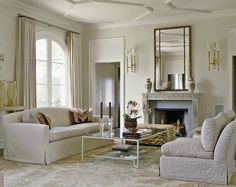 For the living room - panel over door to match the other two  Designer: Sherrill Canet Interiors, room at Mill Neck