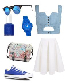 """""""Untitled #134"""" by amina-brka-ab ❤ liked on Polyvore featuring Chicnova Fashion, Keepsake the Label, Converse, Vince Camuto, Essie and Illesteva"""