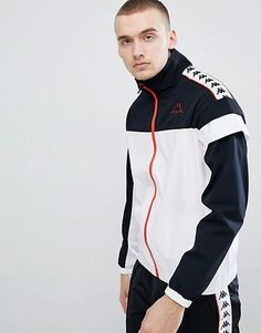 Kappa Track Jacket With Banda Taping Panel Hoodie Jacket, Sweater Hoodie, Bomber Jacket, Versace Tracksuit, Revival Clothing, Casual Wear For Men, Boys Shirts, Streetwear Fashion, Street Wear