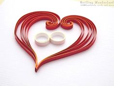 Quilling+Wedding+Card++Paper+Quilling++by+QuillingWonderland,+$7.90