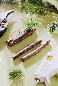 もみの木を使って♪ <グリーン・ナチュラルな結婚式エスコートカード・席札まとめ一覧>