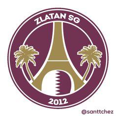 """PSG """"Paris Saint Germain"""" #LOGO zlatan ibrahimovic Qatar"""