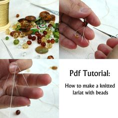 Crochet With Beads Tutorial | Crochet Lariat tutorial, Crochet Lariat with bead pattern -How to make ...