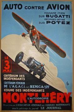 Relaunch of Mme Itier´s Bugatti - PreWarCar Vintage Advertisements, Vintage Ads, Art Deco Car, Ad Car, Ville France, Car Illustration, Car Posters, Vintage Race Car, Planes