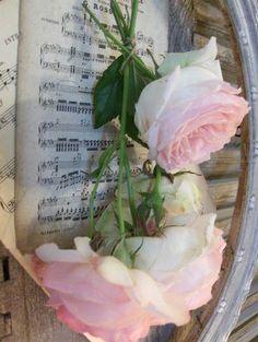 Sheet Music& roses...