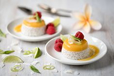 Tropical Tapioca 'Panna Cotta' - This tropical tapioca twist on a panna cotta is one of my favourite celebration desserts because it is just so pretty and delicious.