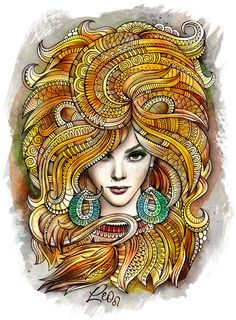 "Zodiac illustration ""LEO"" by balabolka, via Behance"