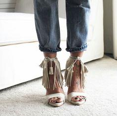 fringe high heel sandals: stunning summer shoe