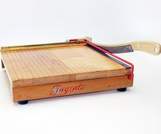 DIY restoration of old style paper cutter