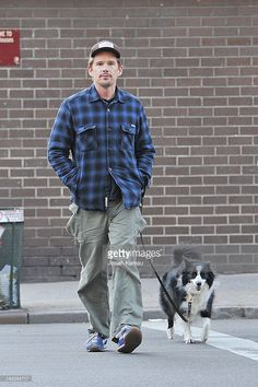 Ethan Hawke walks his dog in Chelsea on March 30, 2012 in New York City, New York.